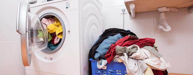 洗濯機と服